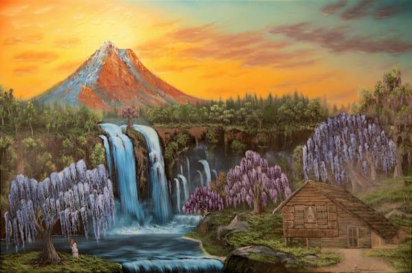 Wisteria tree painting: Shop Print / Errymil Batol Art
