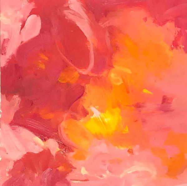 The Light of Love, Oil on Paper, 21.5x 21.5, Framed
