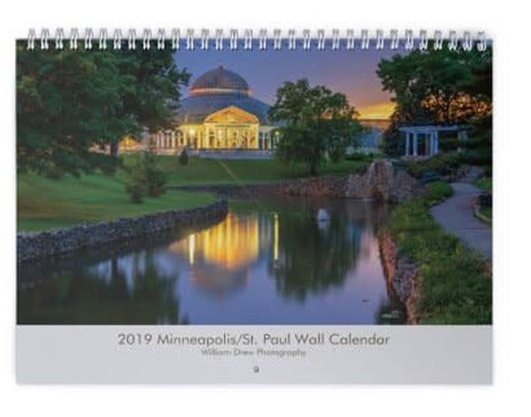 2019 Minneapolis/St. Paul Wall Calendar - Free Shipping