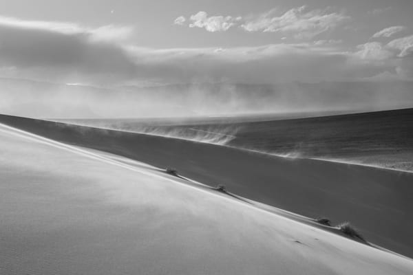 Blowing Sand In Black And White Photography Art | David N . Braun Photography