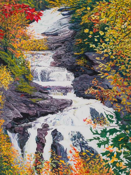 Cullasaja Falls Art | George Terry McDonald Art