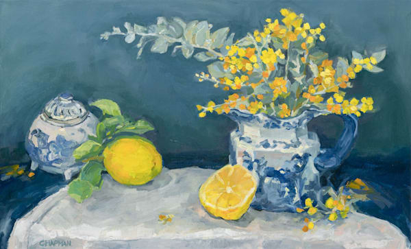 Winter Citrus with Wattle in Ironstone
