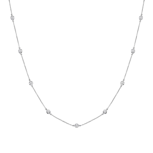 Sterling Silver Floating Necklace Bling by Wilkening