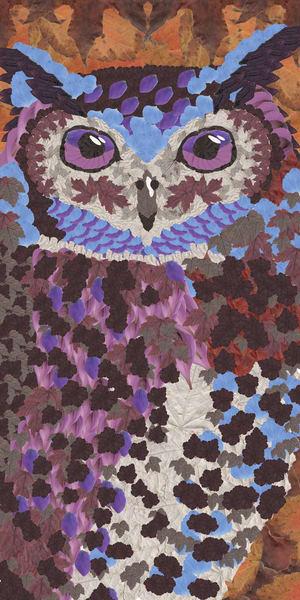 Owl Blue Art   smacartist
