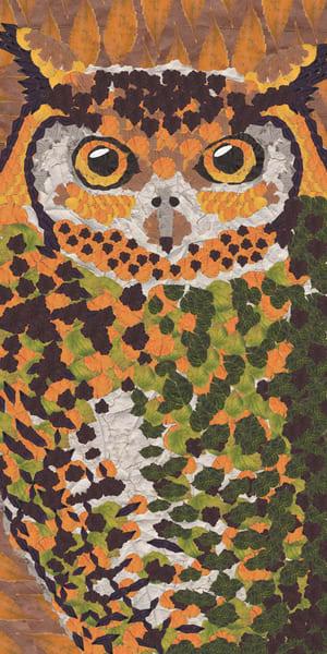 Owl Yellow Art   smacartist