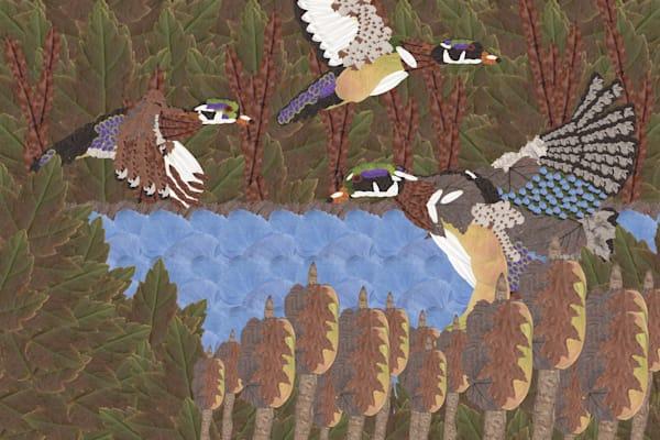 Wood Ducks Art   smacartist