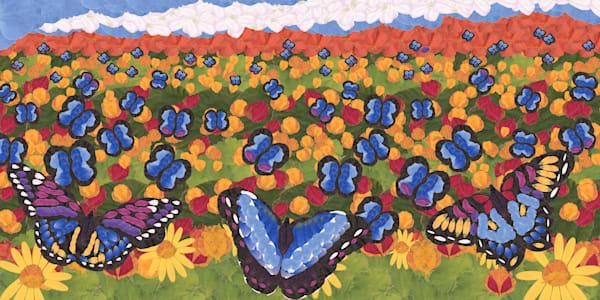 Butterfly Garden Art | smacartist