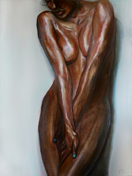 bronze nude painting
