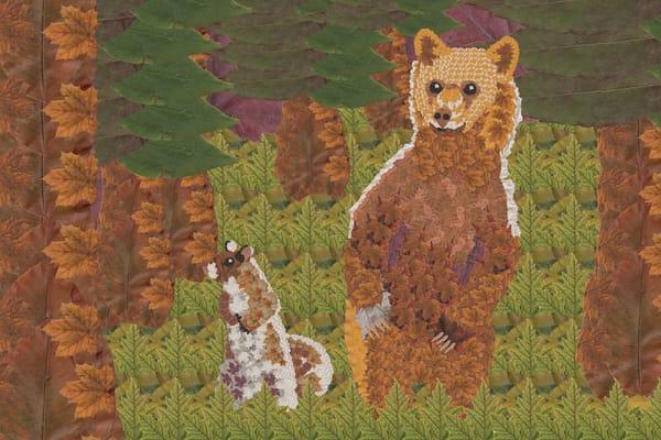 Bear Cub And Squirrel (Little Bear) Art | smacartist