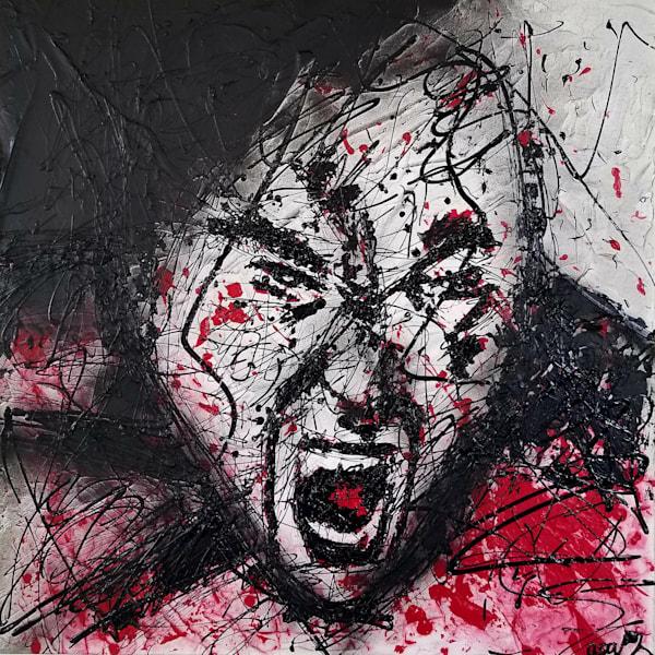 Angry Face Art | Asaph Maurer