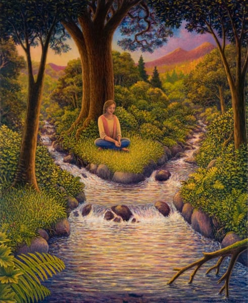 Healing Waters traditional print
