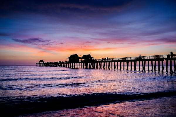 Silhouetted Pier
