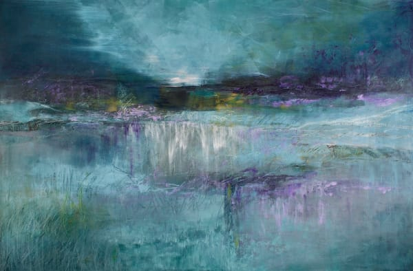 Blue Scape  (Print) Art | Laurie Fields Studio