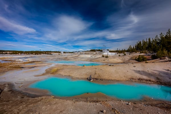 Upper Geyser Basin Hot Springs: Yellowstone - Curt Peters Photography