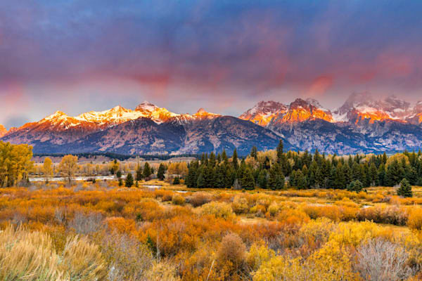 Sunrise at the Grand Tetons