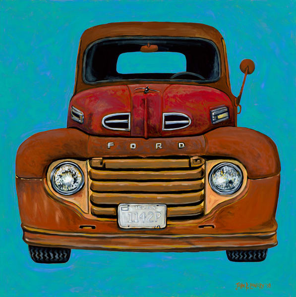 Old Ford truck painting