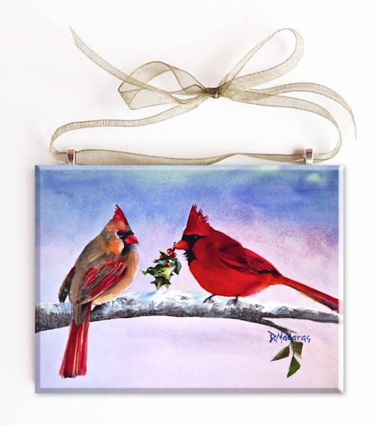 Mr. Cardinal's Gift Glass Ornament