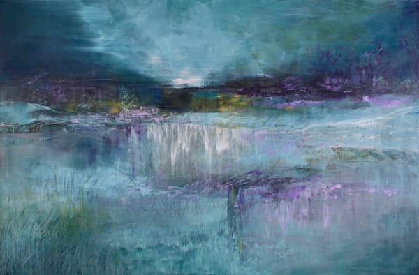 Blue Scape  (Original)   Sold Art | Laurie Fields Studio
