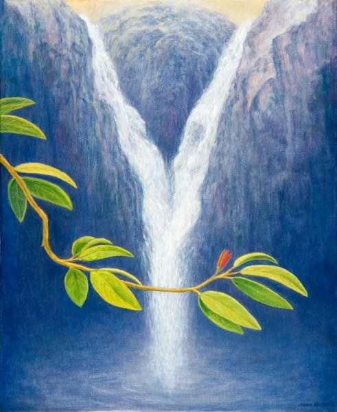 Waterfall traditional print