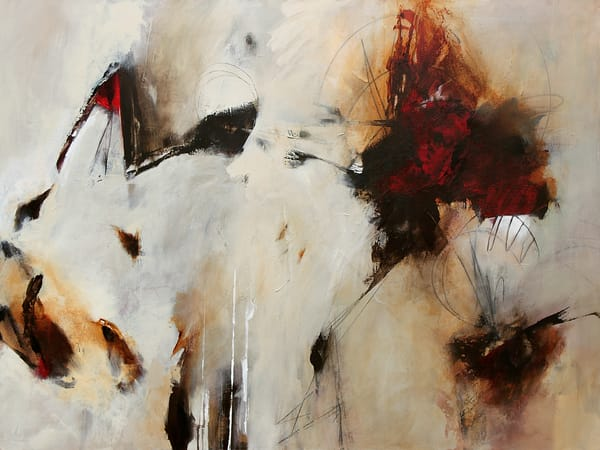 Requiem red abstract painting