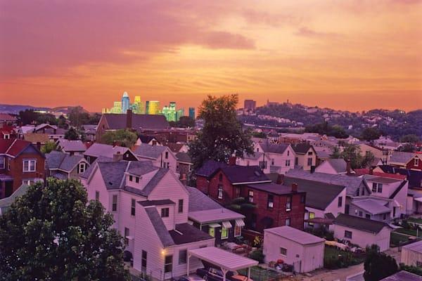 Cincinnati Skyline, View from Bellevue, KY