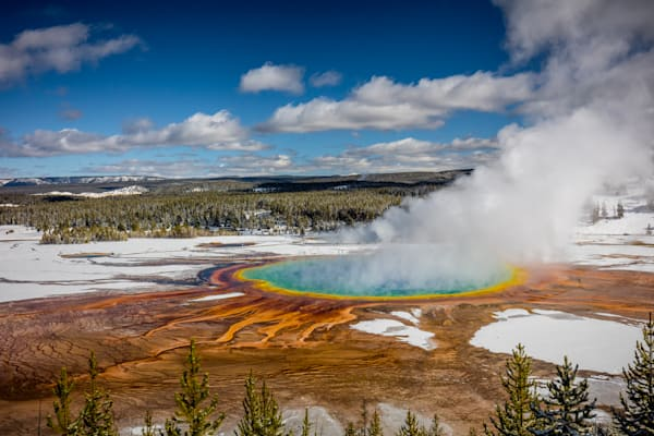 Grand Prismatic Hot Spring: by - Curt Peters