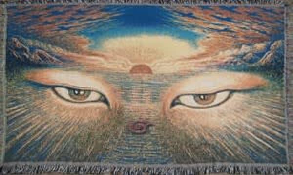 Eyes Of The World Blanket | markhensonart