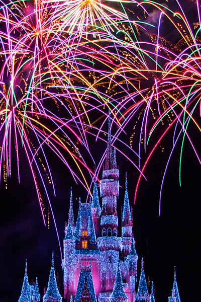 Disney Christmas Fireworks - Disney Canvas | William Drew