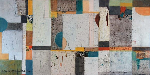Original Large Painting called 'Ground Floor-1' by Shirley Williams