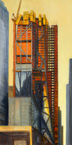 Print of 53W53 Rising, View from 54th Street, Summer 2017