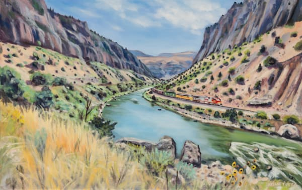 WInd River Canyon - Original Oil painting