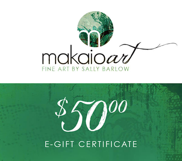 $50 Makaio Art Gift Card | Sally Barlow, Makaio Design