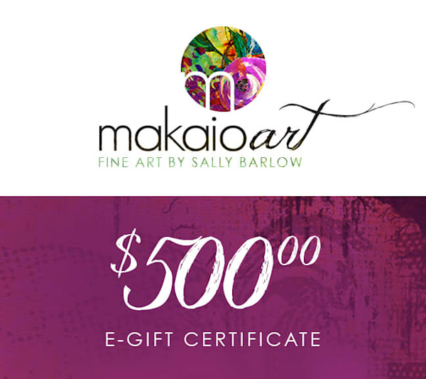 $500 Makaio Art Gift Card | Sally Barlow, Makaio Design
