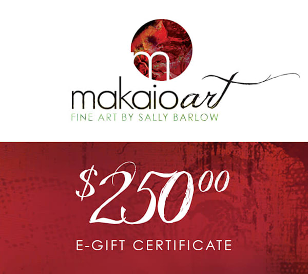 $250 Makaio Art Gift Card | Sally Barlow, Makaio Design