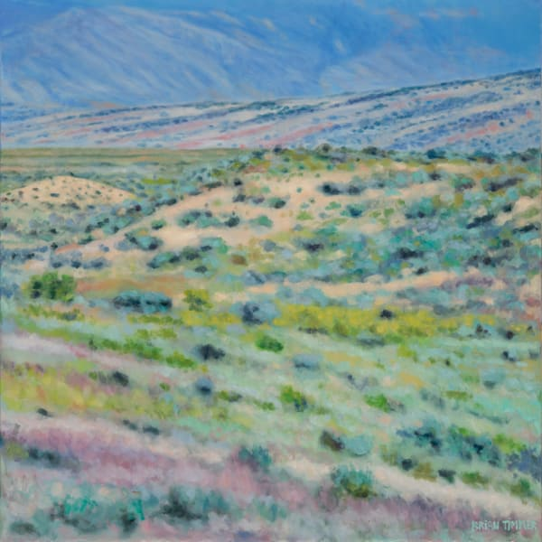 Big Horn Mountains Spring Color oil painting