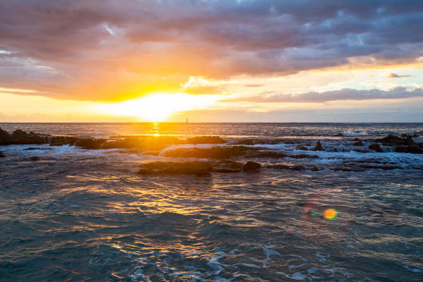 Sunset At Paradise Cove In Hawaii Photograph For Sale As Fine Art