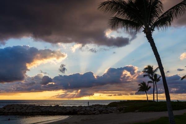 Lagoon 4 At Sunset In Ko'Olina, Hawaii Photograph For Sale As Fine Art