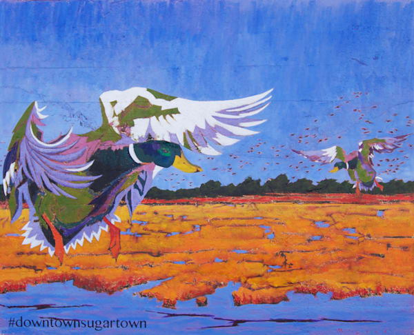 Fine art prints of the Stuttgart duck mural by artist Matt McLeod.