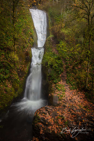 Bridal Veil Falls in Autumn photo for sale by Barb Gonzalez Photography