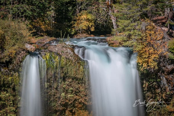 Koosah Falls in Autumn Photo for Sale by Barb Gonzalez Photography