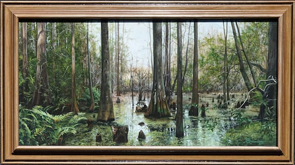 Nicholas's Swamp painting by Kevin Grass