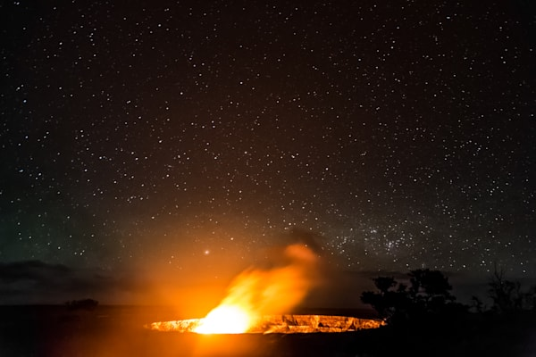 Kilauea Erupting on a Clear Night