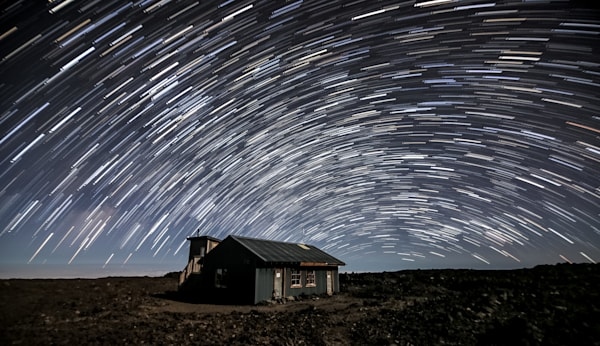 Mauna Loa Star Trails Photography Art by David N. Braun Photography