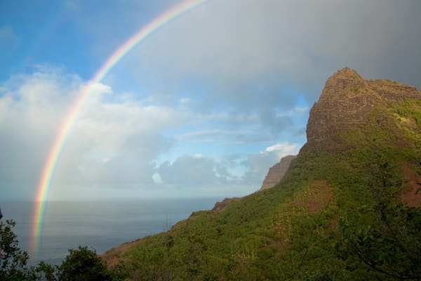Napali Raibow I Hawaii Landscape Photography I David N. Braun I Napali Coast Trail | Kauai