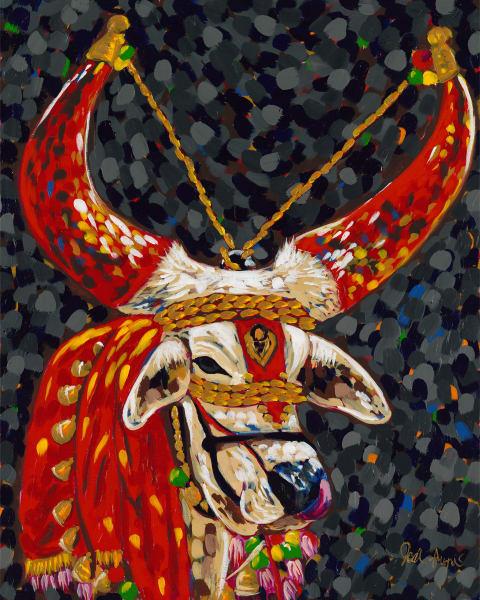 Decorated Bull Fine Art Print