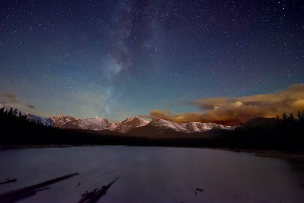 Bierstadt Lake by Moonlight