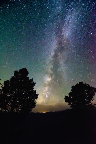 Night Sky from Farview Curve