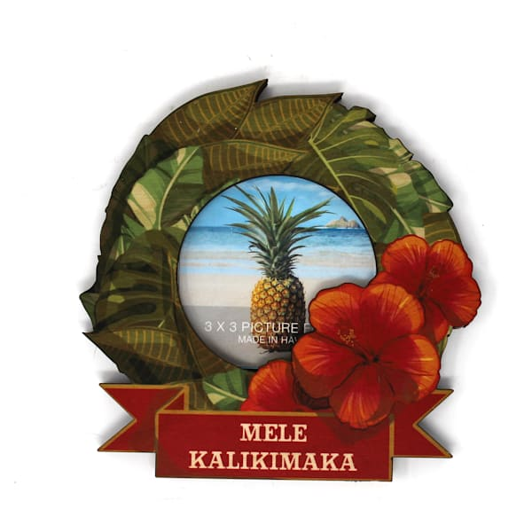Hawaiian Wreath Cutout Mini Frame
