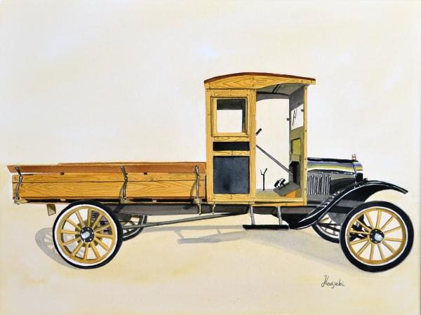 Model T ford Truck watercolor painting by Shah Hadjebi