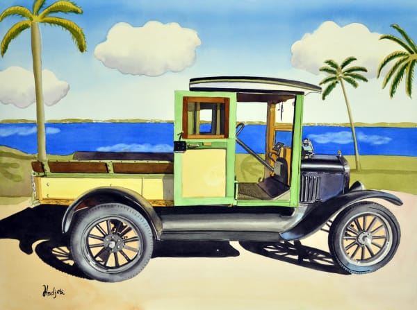 Model T Ford Truck - A watercolor painting by Shah Hadjebi